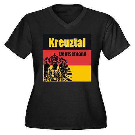 Kreuztal Deutschland Women's Plus Size V-Neck Dar