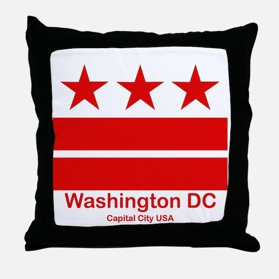 Cute District columbia flag Throw Pillow