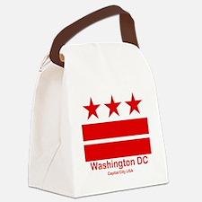 Cute District columbia flag Canvas Lunch Bag