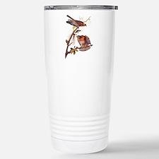 Red Shouldered Hawk Vintage Audubon Art Travel Mug