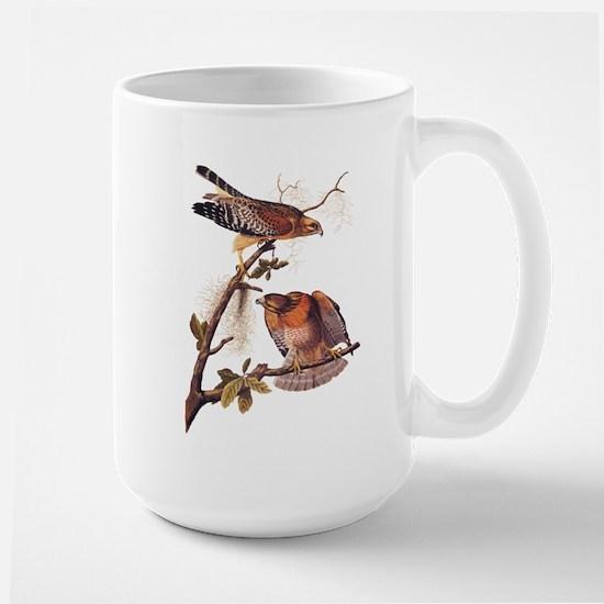 Red Shouldered Hawk Vintage Audubon Art Mugs