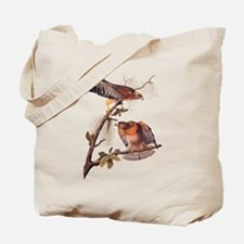 Red Shouldered Hawk Vintage Audubon Art Tote Bag
