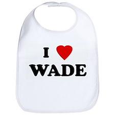 I Love WADE Bib