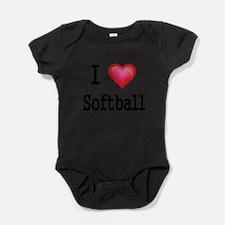 Unique Women softball Baby Bodysuit