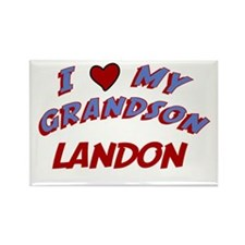 I Love My Grandson Landon Rectangle Magnet