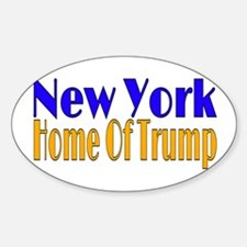 New York Home Of Trump Decal