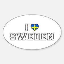 I Love Sweden Decal