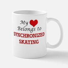 My heart belongs to Synchronized Skating Mugs