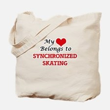 My heart belongs to Synchronized Skating Tote Bag