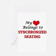 My heart belongs to Synchronized Sk Greeting Cards