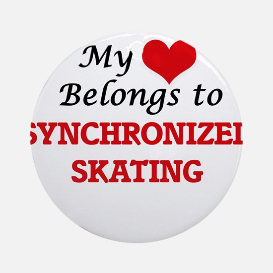 My heart belongs to Synchronized Sk Round Ornament