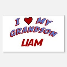 I Love My Grandson Liam Rectangle Decal