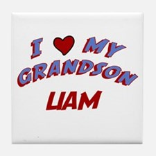 I Love My Grandson Liam Tile Coaster