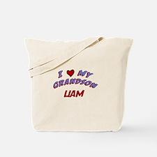 I Love My Grandson Liam Tote Bag