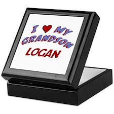 I Love My Grandson Logan Keepsake Box