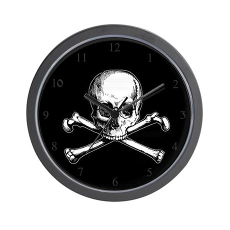 Skull And Crossbones Wall Clock