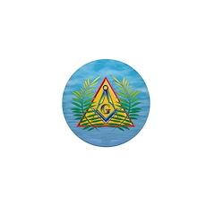 Masonic Acacia on the Pyramid Mini Button (10 pack