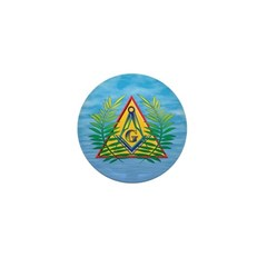 Masonic Acacia on the Pyramid Mini Button