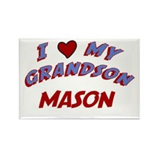 I Love My Grandson Mason Rectangle Magnet
