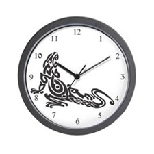 Tribal Lizard Tattoo Wall Clock