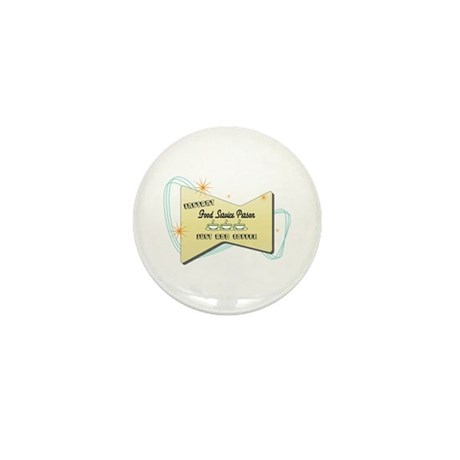 Instant Food Service Person Mini Button (100 pack)