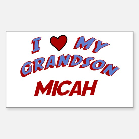 I Love My Grandson Micah Rectangle Decal