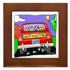 Just Adopted: Cats Framed Tile