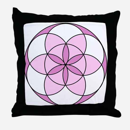Seed of Life Angel 05 Throw Pillow