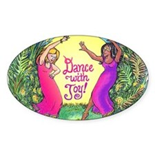 Dance With Joy Oval Decal