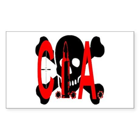 CIA Assassination Sticker (Rectangle)