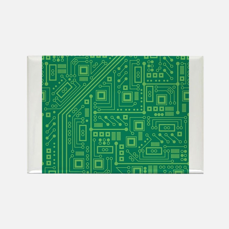 Green Circuit Board Magnets