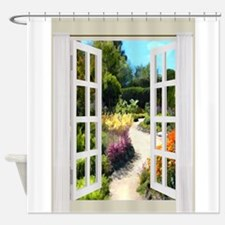 View Scenic Scenery Landscape Waterfall Shower Curtains