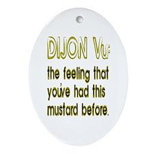 Dijon Vu Oval Ornament