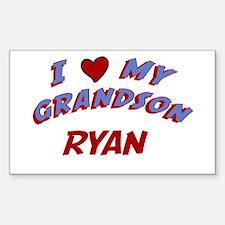 I Love My Grandson Ryan Rectangle Decal