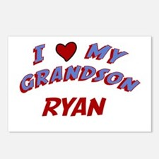 I Love My Grandson Ryan Postcards (Package of 8)
