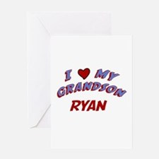 I Love My Grandson Ryan Greeting Card