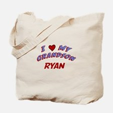 I Love My Grandson Ryan Tote Bag