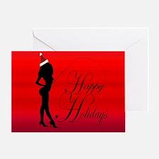 Funny Christmas fishing Greeting Card
