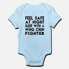 Feel Safe With Wing Chun Fighter Infant Bodysuit