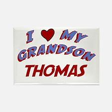 I Love My Grandson Thomas Rectangle Magnet