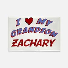 I Love My Grandson Zachary Rectangle Magnet