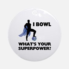 Bowling Superhero Ornament (Round)