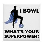 Bowling Superhero Tile Coaster