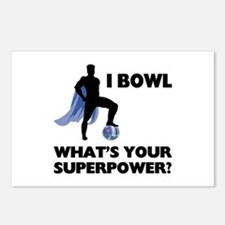 Bowling Superhero Postcards (Package of 8)