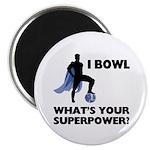 Bowling Superhero Magnet