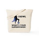 Bowling Superhero Tote Bag