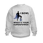 Bowling Superhero Kids Sweatshirt
