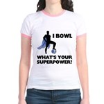 Bowling Superhero Jr. Ringer T-Shirt
