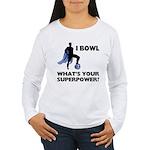 Bowling Superhero Women's Long Sleeve T-Shirt