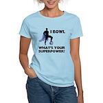 Bowling Superhero Women's Light T-Shirt